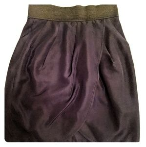Wilfred Black silk skirt